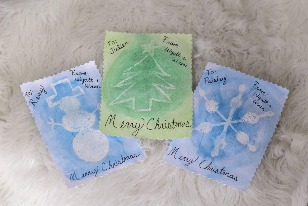 DIY Watercolor Christmas Cards