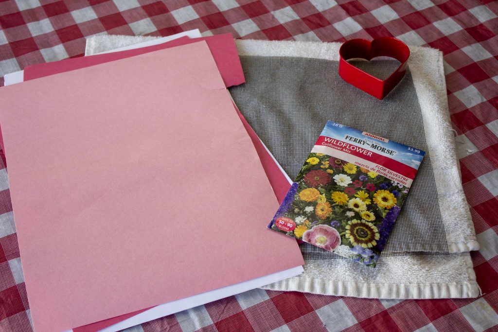 eco-friendly valentines, seed paper, flower seed paper