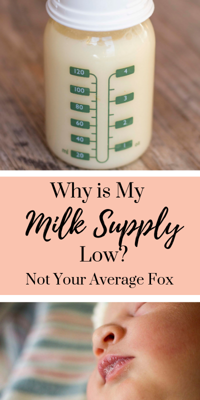 Why is my milk supply low