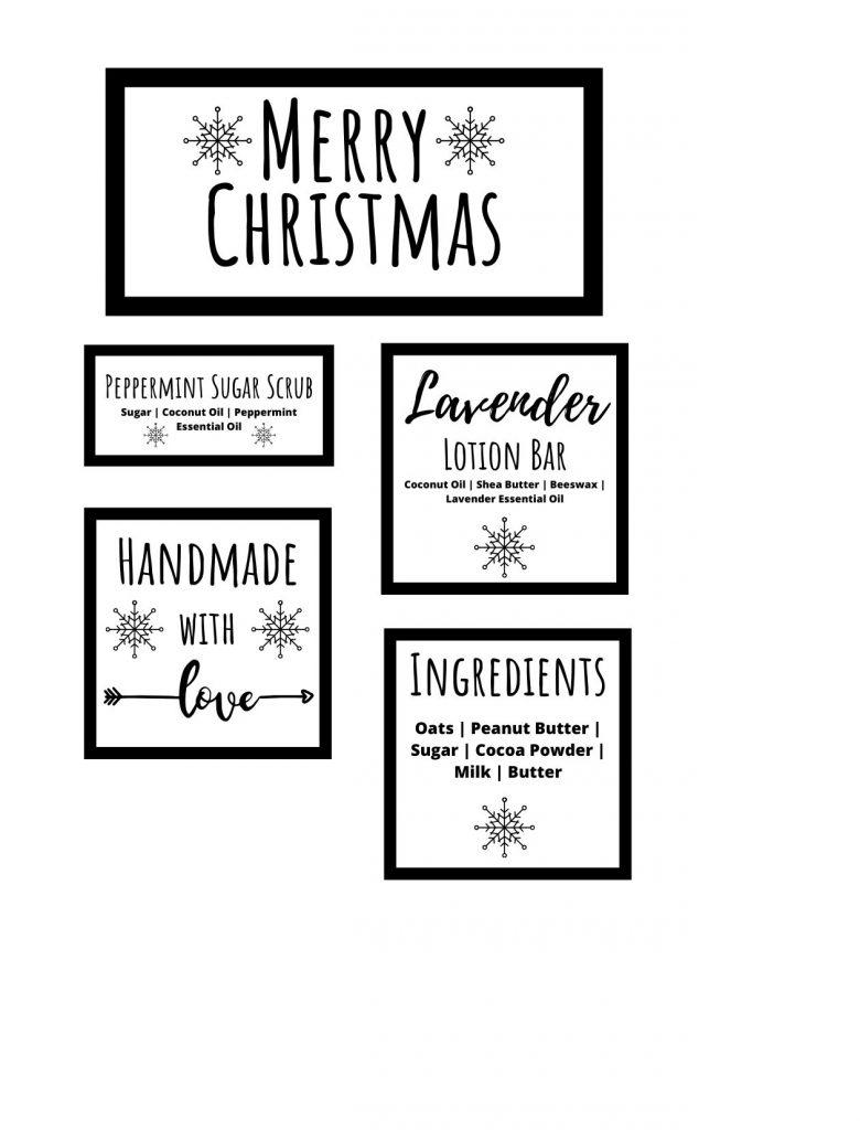 christmas gift basket printable